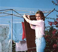 hanging clothes outside