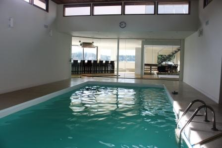 Indoor swimming pool solar heated